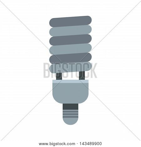 CFL light icon in flat style isolated on white background. Lighting symbol