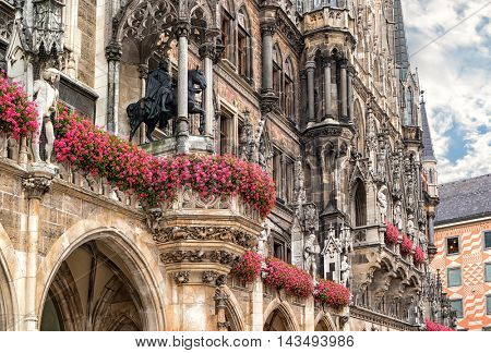 City Hall at Marienplatz in Munich, Germany.