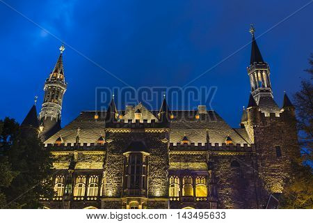 Old Aachen Town Hall At Night