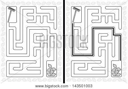 Easy Autumn Maze
