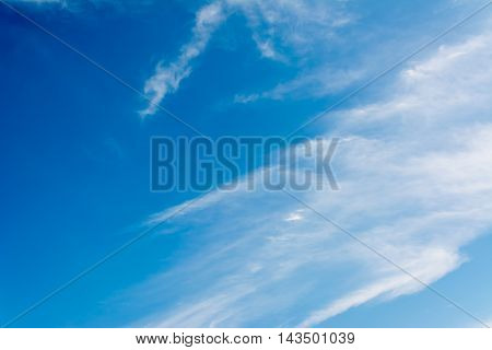 Image Of Clear Blue Sky And White Clouds On Day Time.
