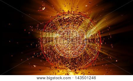 3D rendering, explosion background