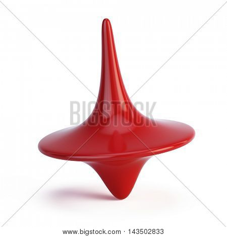 Whirligig in motion isolated on white. 3d illustration