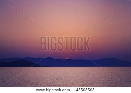 Crete Sunset. Sea Sun and Ske. Impressions of Greece