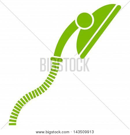 Flexible Shower icon. Vector style is flat iconic symbol, eco green color, white background.