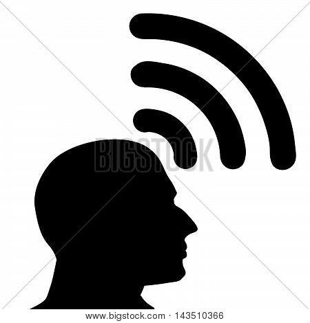 The idea of transmitting vector.Illustration wifi to send.Send idea wifi icon.