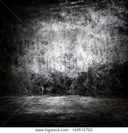 grunge metal interior background