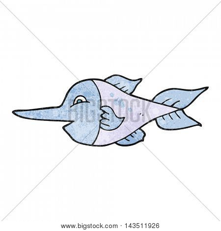 freehand textured cartoon swordfish