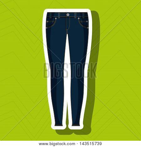 jeans woman closet clothes vector illustration graphic