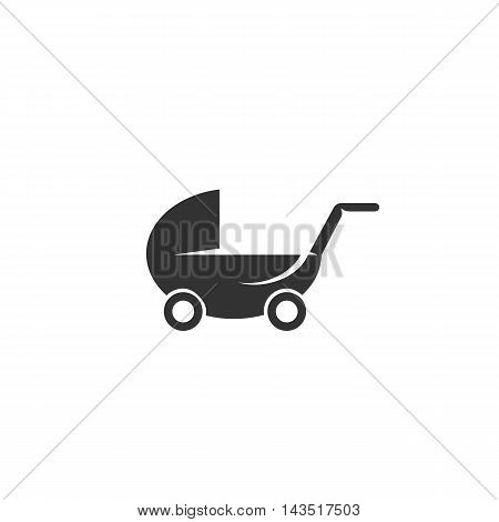 Buggy logo silhouette design template isolated on a white background. Simple concept icon for web, mobile and infographics. Abstract symbol, sign, pictogram, illustration - stock vector