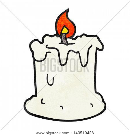 freehand textured cartoon dribbling candle