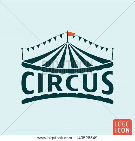 Circus icon. Circus tent symbol. Vector illustration