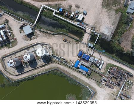 Equipment For The Drying Gas And Condensate Collection. Top View.