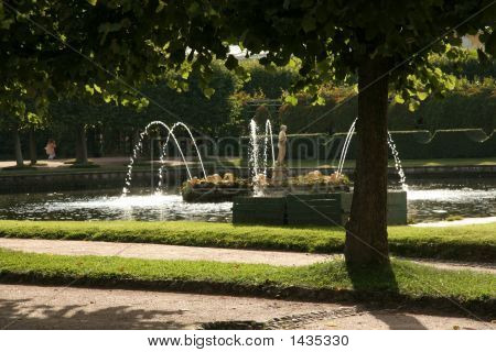 Fountain In The Peterhof Park