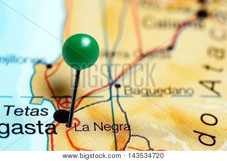 La Negra pinned on a map of Chile