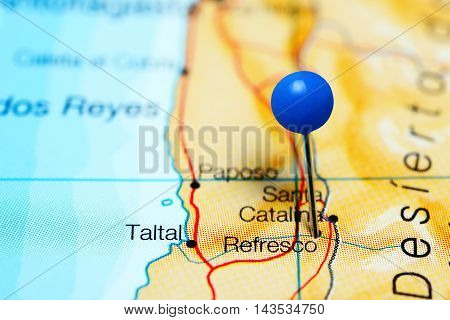 Refresco pinned on a map of Chile