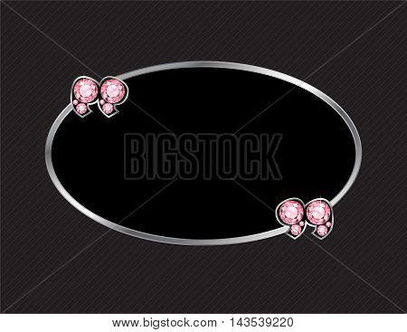 Rose Quartz Stone Quotes on Silver Metal Speech Bubble over Pinstripe Background
