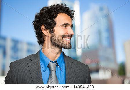 Smiling businessman portrait outdoor
