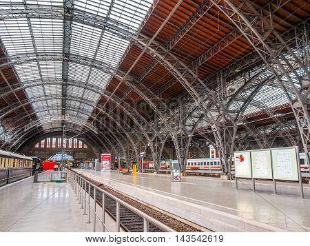 Hauptbahnhof Leipzig (hdr)