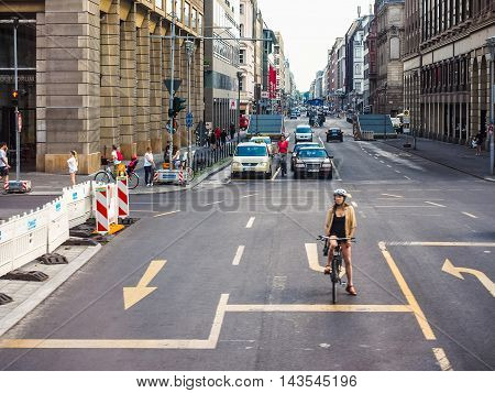 Friedrickstrasse (frederick Street) In Berlin (hdr)