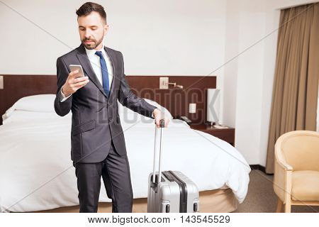 Young Businessman During A Business Trip