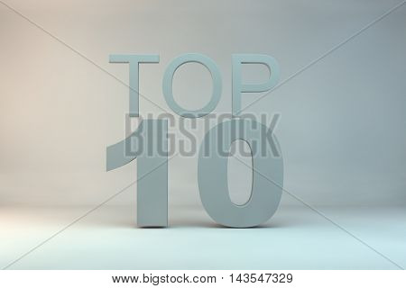 top 10 on background.3d illustration