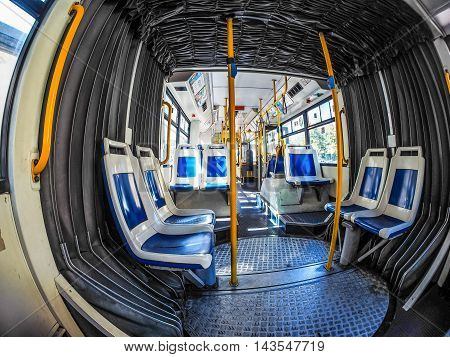 Bus Interior In Turin (hdr)