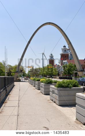 Arch And Windmill