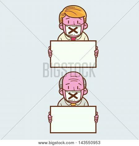 Illustration of man about freedom of speech