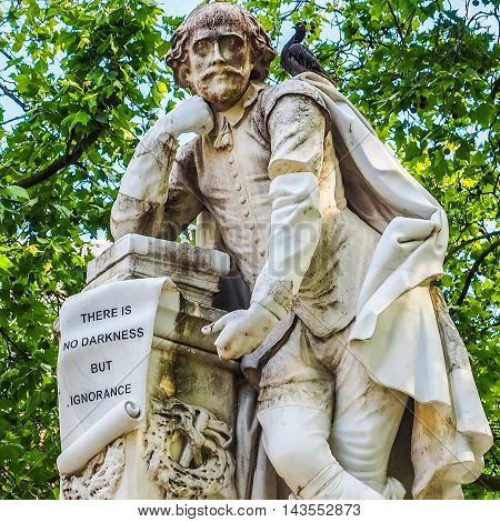 Shakespeare Statue In London (hdr)