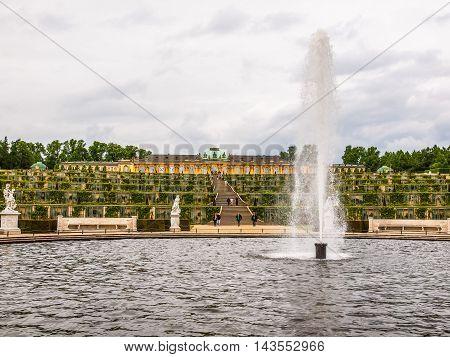 Schloss Sanssouci Potsdam (hdr)