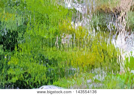 abstract background of water flow down background .