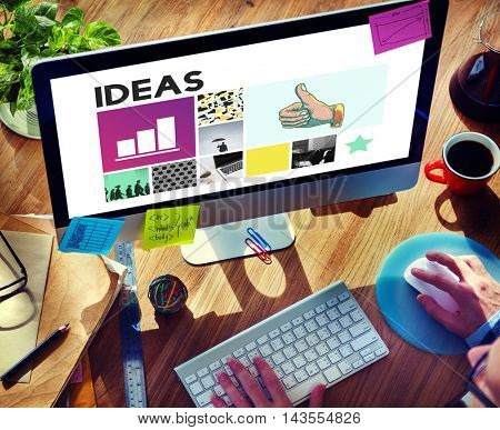 Ideas Thumps up Mission Strategy Concept