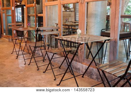 Decoration interior in coffee shop, stock photo