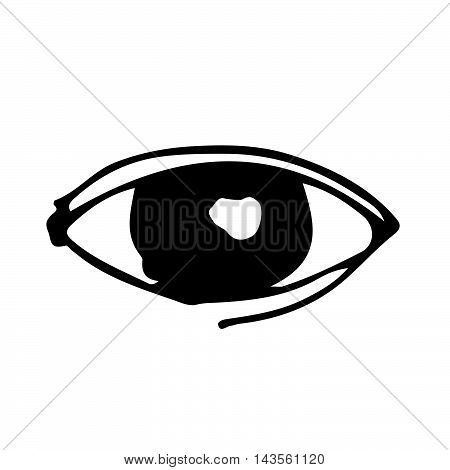 an images of doodle eye icon drawing illustration design