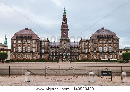 Christiansborg Palace In Copenhagen