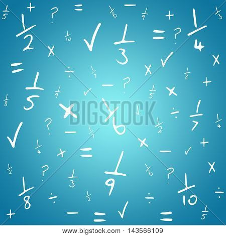 Maths against blue vignette background