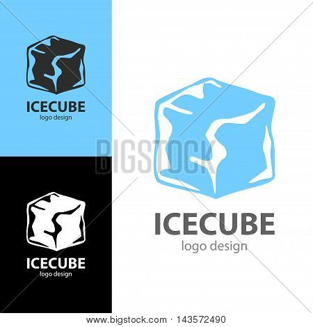 Logo design Ice cube, vector art for web and print