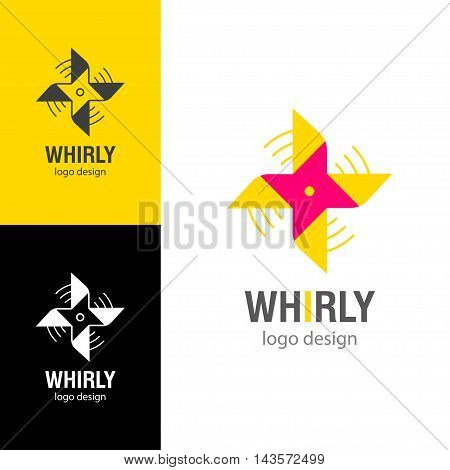 Logo design Whirly, vector art for web and print