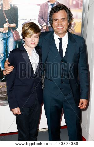NEW YORK-JUNE 25: Mark Ruffalo (R) and son Keen Ruffalo attend the New York premiere of