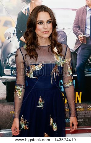 NEW YORK-JUNE 25: Keira Knightly attends the New York premiere of Weinstein company's