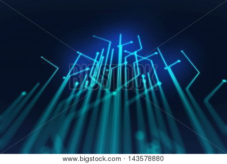 Defocused Image Of  Fiber Optics Lights Abstract Background
