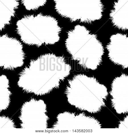 seamless pattern - fluffy skin spots like the jaguar cat Dalmatians a horse or a cow