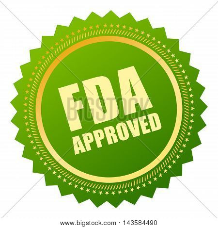 Fda approved icon vector illustration isolated on white background