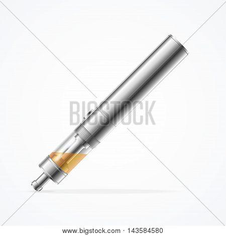 Vaporizer E-sigaret Isolated on White Background. Alternative Smoking. Vector illustration