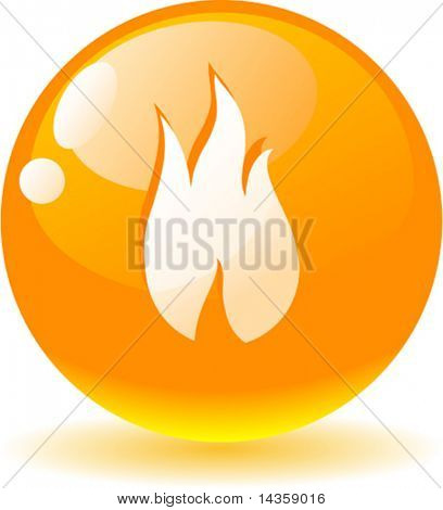Beautiful flame icon. Vector illustration.