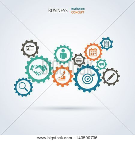Colorful vector design for workflow layout . Stock Illustration