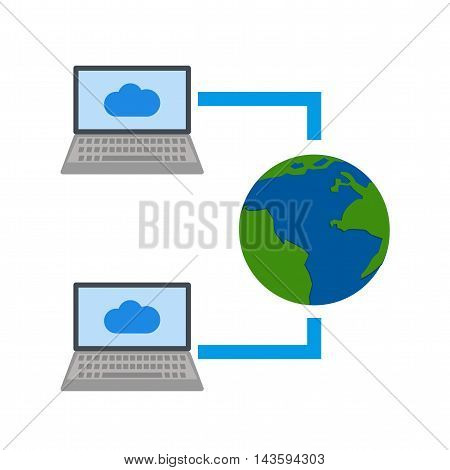 Internet, connection, share icon vector image.Can also be used for networking. Suitable for mobile apps, web apps and print media.