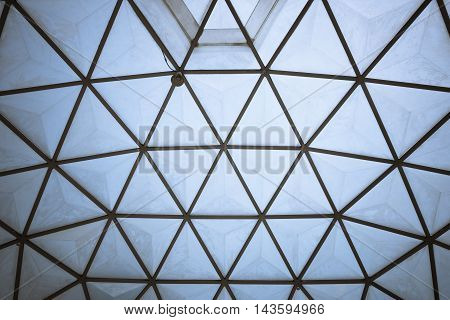 Triangle frame of cactus dome Triangle abstract.