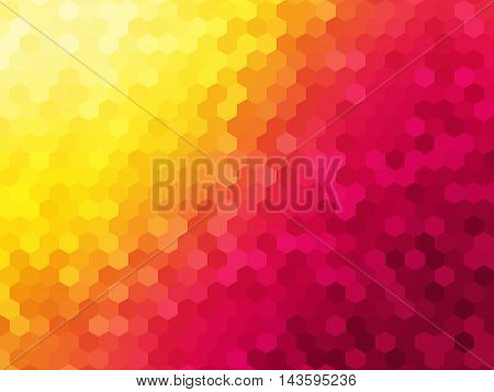 Abstract background - Colorful Geometrical shapes, Polygonal texture for webdesign - Yellow, Pink colors